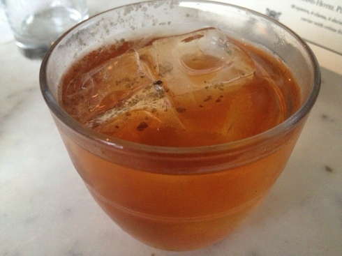 Sage syrup gives this scotch and bourbon concoction a verdant twist.