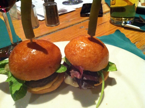 Rattle N Hum conveniently pairs a beer with each of its dishes. The Shroom Slider is paired with Bel Strong Pale Ale.