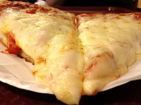 If you're looking for cheese, look no further than the pan pie. This is the closest to deep-dish you can find without making the trip to Chicago.