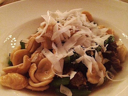 Orecchiette, laced with spicy lamb sausage and broccoli rabe, and garnished with a welcome heap of ricotta salata, is the one pasta on Red Gravy's menu that never goes out of season. And for good reason.