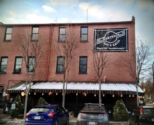 Sidetrack was built adjacent to the historic railroad tracks in Depot Town. Inside, it is energetic bar meets cozy ski lounge.