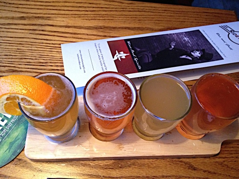 Can't decide which of the 24 beers on tap to order? Sample a flight of four, including these seasonal and small batch brews.